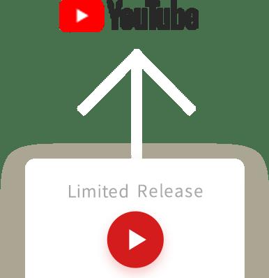 撮影動画をYouTubeに限定公開動画としてアップロード